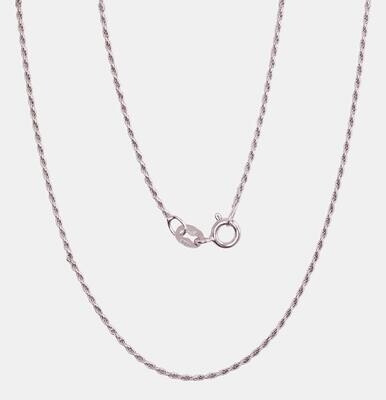 Sidabrinė Grandinėlė,  Rope, Sukta, 1,1 mm pločio, ADUM 2400057 Rodžiuota