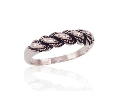 Sidabrinis žiedas, ADUN 2100004(POx-Bk)