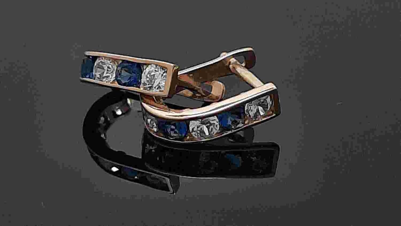 Auksiniai auskarai mėlynomis akutėmis ADVE26554