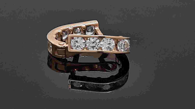 Auksiniai auskarai skaidriomis akutėmis, ADVE23510