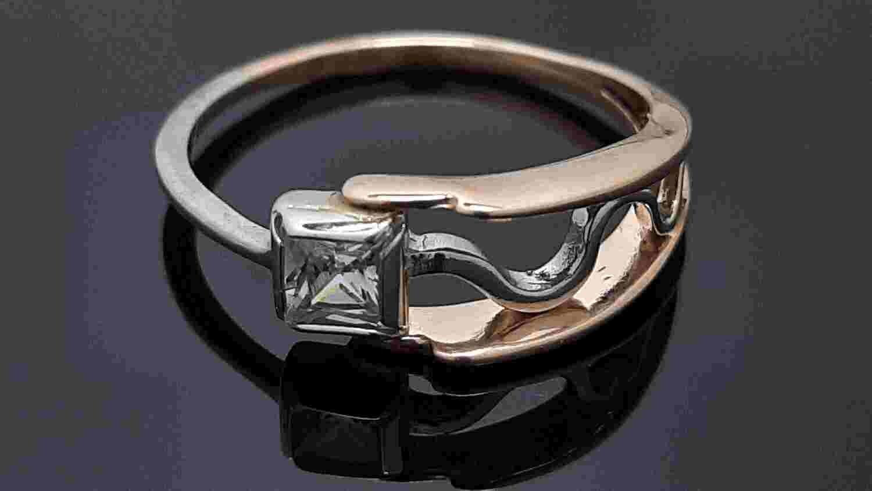 Modernus auksinis moteriškas žiedas , 18.25 dydis