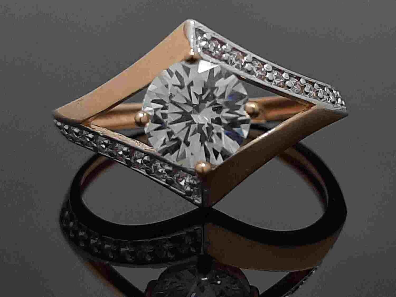 Rombo formos moteriškas žiedas  16,5 dydis