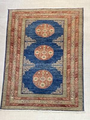 Samarkand fin Afghan. Couleurs végétales. 3650fr soldé 1820fr