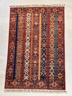 Kazak Afghan. Couleurs végétales. 3190fr soldé 1590fr