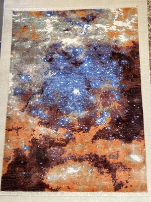 Tibet Design laine et soie. Dessin «cosmos».2660fr