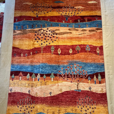 Kazak Afghan. Dessin Paysage. Couleurs végétales 5260fr soldé  2630fr