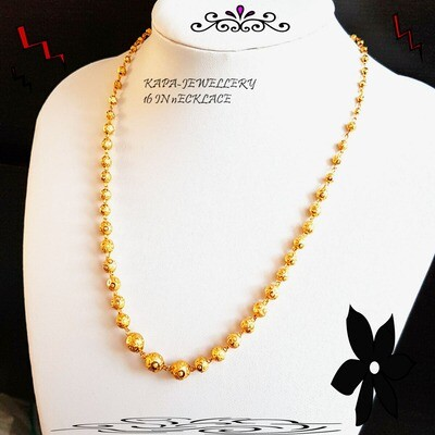 18 in choker chain Indian style gold plated