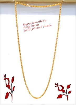 long gold plated chain 28 in