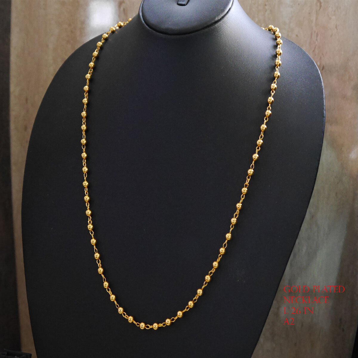 Indian gold plated chain 24 in