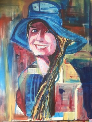 GIRL IN A TURQUOISE HAT
