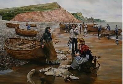 A Fish Sale on Sidmouth Beach