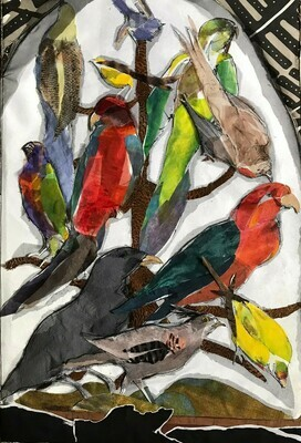 Still Life with Exotic Birds