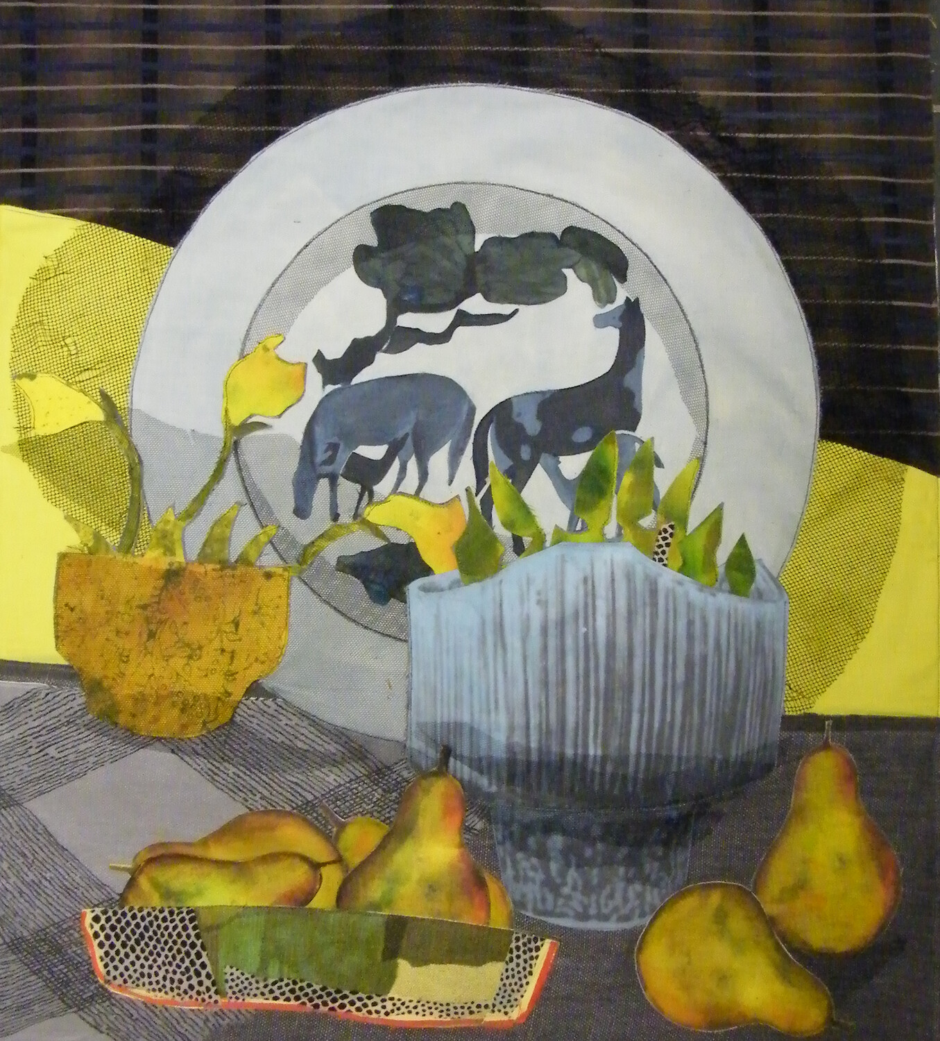 Still Life with Chinese Assiette and Pears