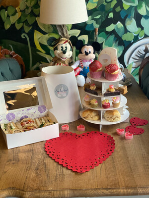 Valentines Takeaway Afternoon Tea Box Tiered Stand For 2