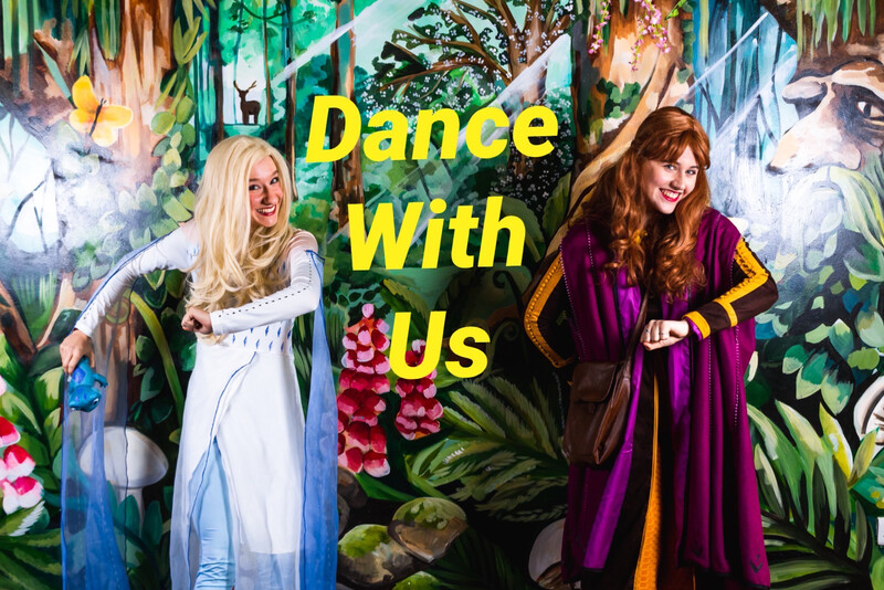 Zoom Dance Lesson With Elsa & Anna Sat 6th March  At 12:00