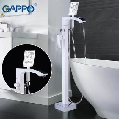 G3007-8 (белый/хром. смес. напольный для ванны )