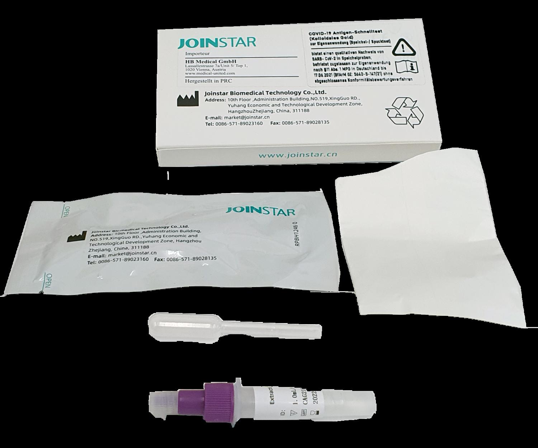 10 Antigen Corona Laientest -Spucktest  Joinstar