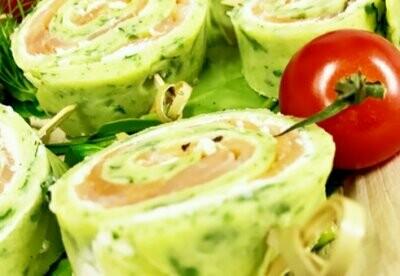 Spinat-Lachs-Röllchen