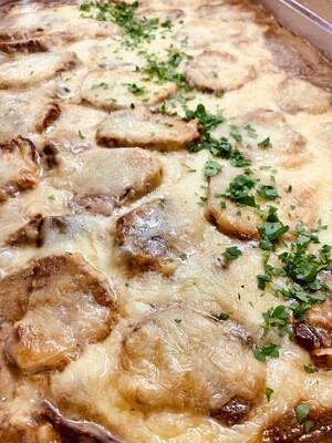 Waldpilz-Sahne-Filet mit Kartoffelgratin