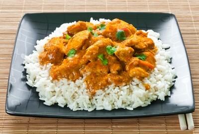 Hähnchengeschnetzltes mit Reis