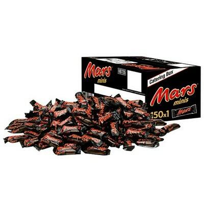 Schokoriegel Minis Catering Box Mars 150 Stück
