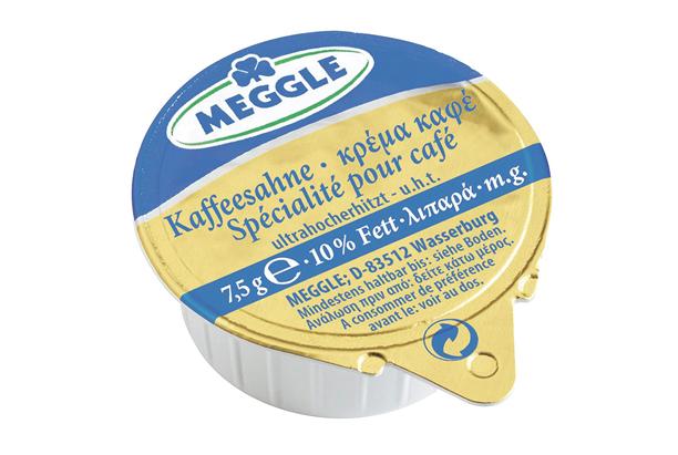 Meggle Kaffeesahne Einzelportionen 10 % Fett, 120 Stück á 7,5 g 900 g Karton