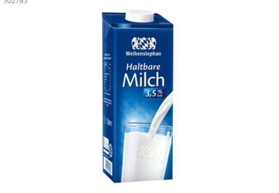 Weihenstephan H-Alpenmilch 3,5 % Fett 1 l Packung