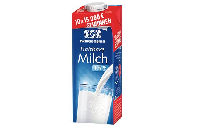 Weihenstephan Haltbare Milch 1,5 % Fett - 1,00 l Packung