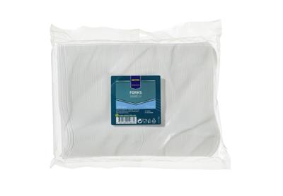 Gabeln Plastik Weiß - 250 Stück