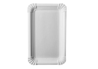 Pappteller Weiß eckig - 250 Stück