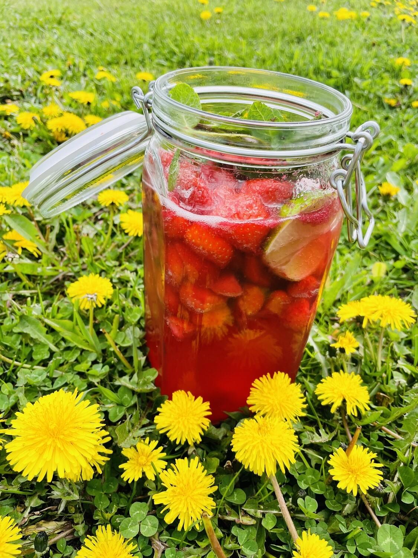 Erdbeerbowle, 1 Liter im Weckglas