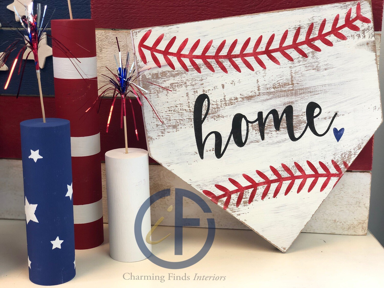 Baseball Home Plate Sign