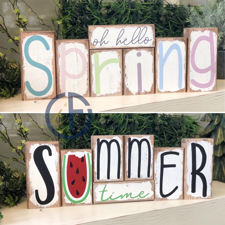 Flippin' Spring / Summer Blocks