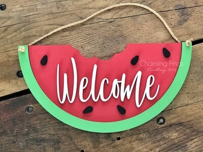 3D Watermelon Welcome Sign