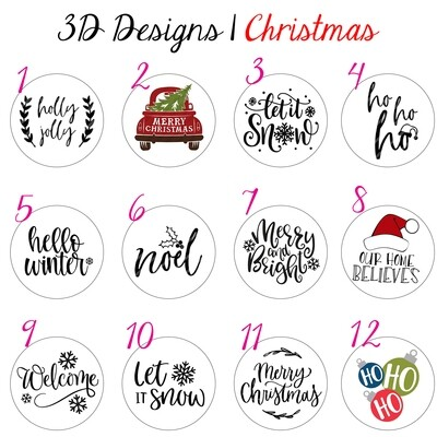 3D Hanging Christmas Sign