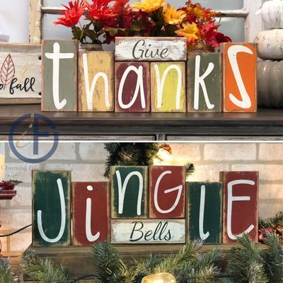 Give Thanks / Jingle Bells Blocks