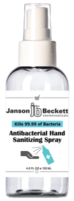 Hand Sanitizer Spray 4 OZ (120 ml) - Case of 60 Bottles