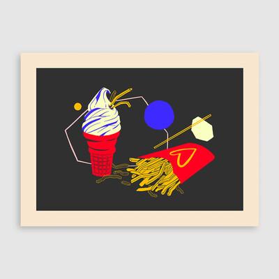 Opposites - Postcard