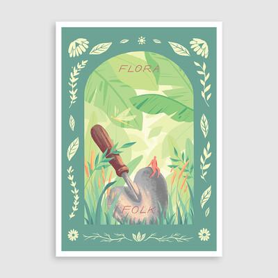 Flora Folk - Art Print