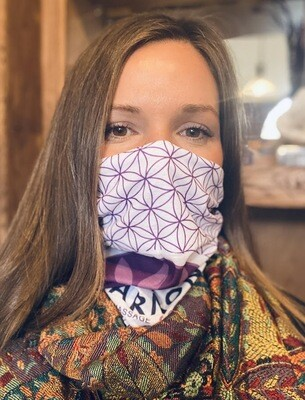 Flower of Life HHM Face Mask with Carbon Filter