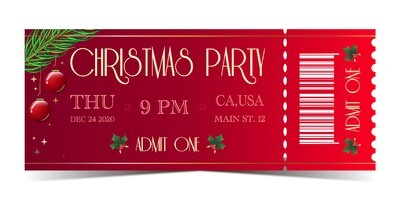 Christmas Party Tickets - Red