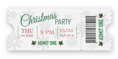 Christmas Party Tickets - White
