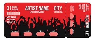 Premium Tickets - Red