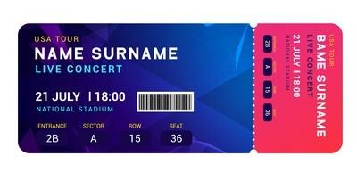 Premium Tickets - Blue & Red