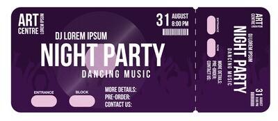 Premium Tickets - Dark Violet
