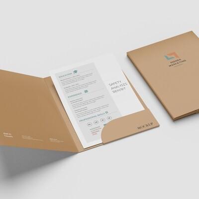 Presentation Folders with pockets