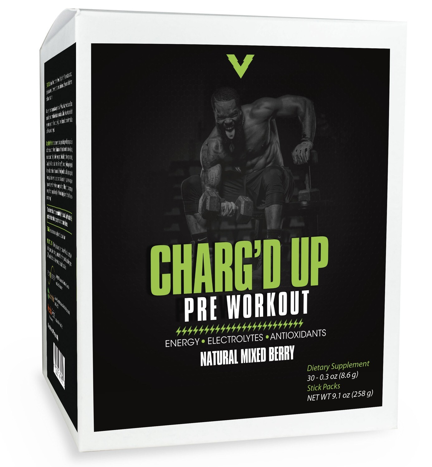 Charg'd Up Pre-Workout (Natural Mixed Berry Flavor) - 30 - 0.3 oz singles