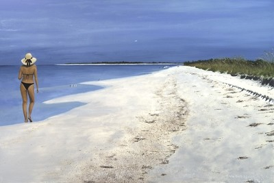 Woman on Beach - Print