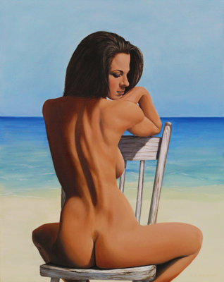 Beach Sunbathing - Print