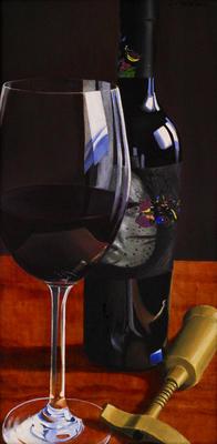 Wine Bottle - Print